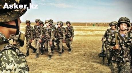 Солдаты вооруженных силах Казахстана